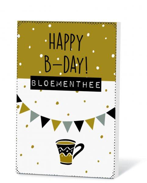 Thee in een kaart - Happy b-day