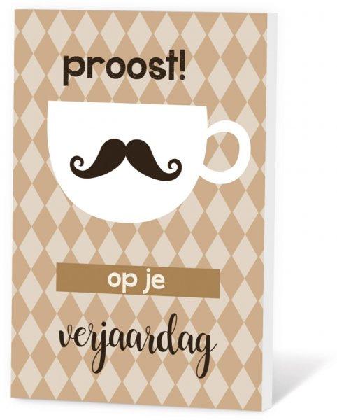Koffie in een kaart - Proost! op je verjaardag