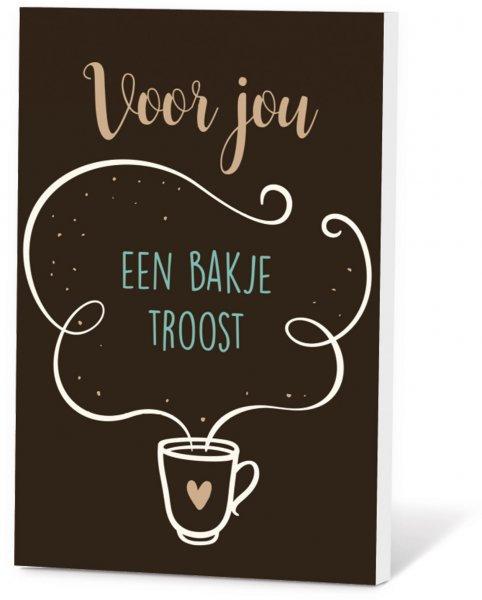 Koffie in een kaart - Voor jou een bakje troost