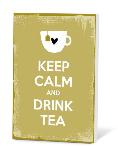 Thee in een kaart - Keep calm & drink tea