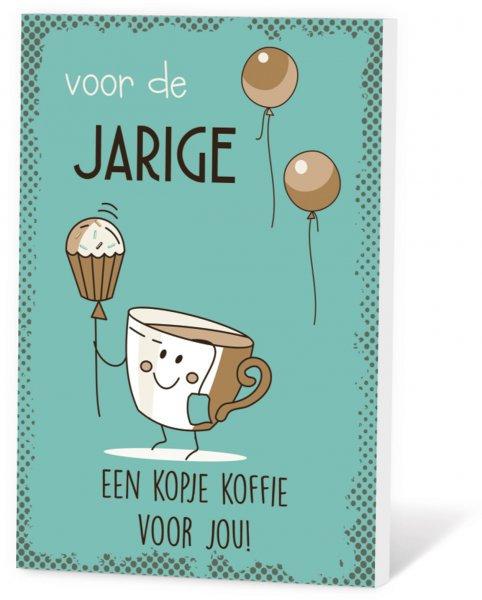 Koffie in een kaart - Voor de jarige