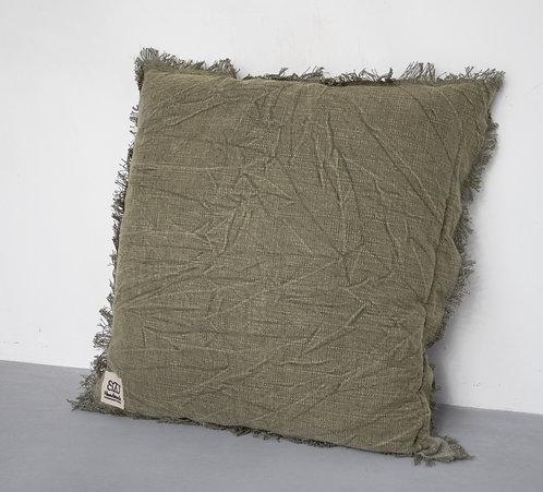 Kussen stonewashed - groen