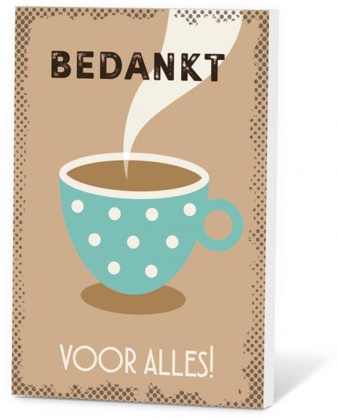 Koffie in een kaart - Bedankt voor alles!
