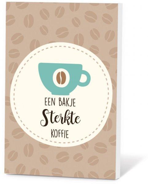 Koffie in een kaart - Een bakje sterkte koffie