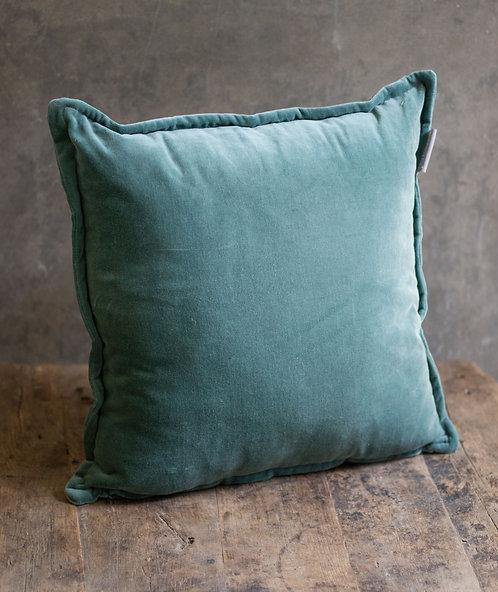 Kussen velvet - blauw (incl. binnenkussen)