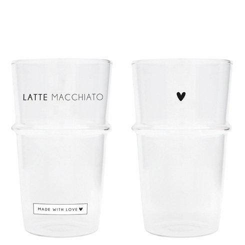 Latte glas - Hartje