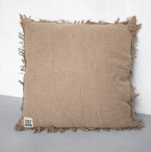 Kussen stonewashed - camel