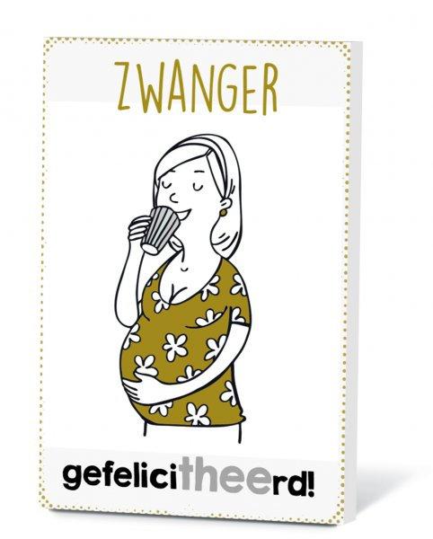Thee in een kaart - Zwanger