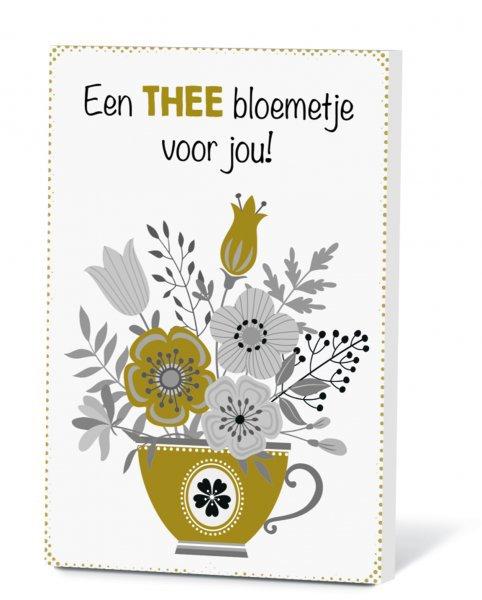 Thee in een kaart - Een thee bloemetje voor jou!