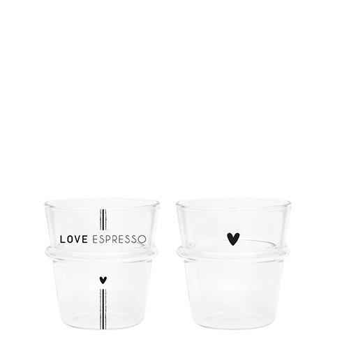 Espresso glas - love espresso