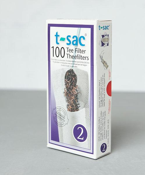 T-Sac Theefilters no. 2,  100 stuks