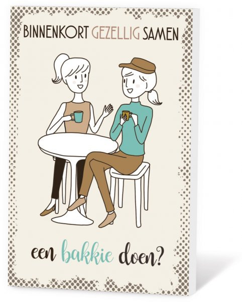 Koffie in een kaart - Bakkie doen?