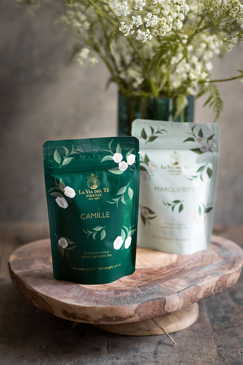 Mix van groene theeën met langdurig kiwi en peer aroma