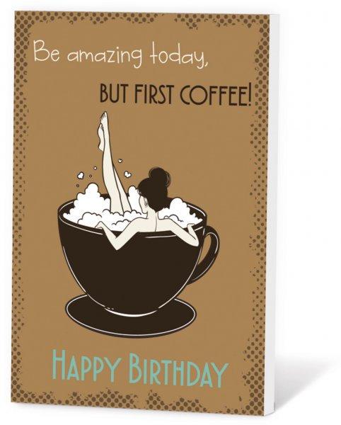 Koffie in een kaart - Happy birthday