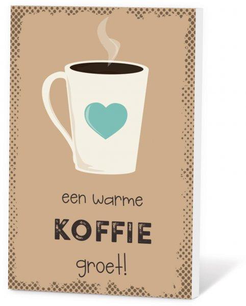 Koffie in een kaart - Een warme koffie groet!