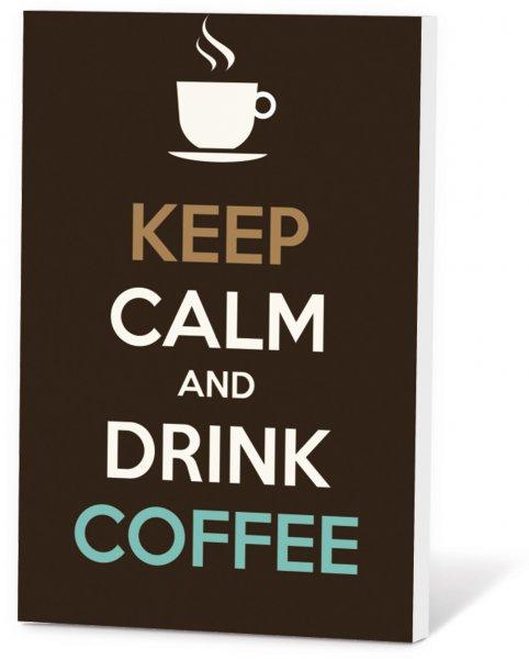 Koffie in een kaart - Keep calm & drink coffee