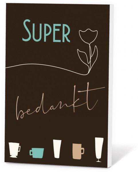 Koffie in een kaart - Super bedankt