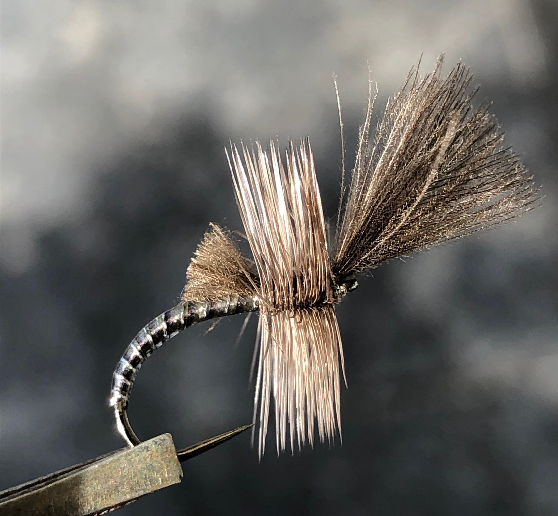 here you can see the result, you can choose for different colors you like and you can also clipped the hackle feathers under the fly so it lays deeper in the water