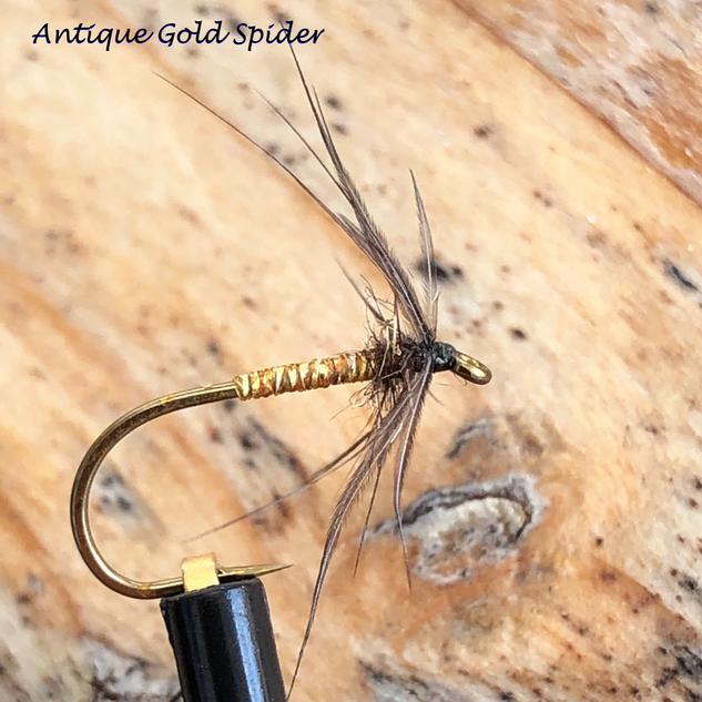 Antique Gold Spider