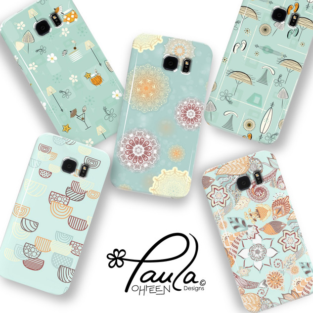 Pretty Blue Patterns on Phone Cases