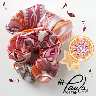 Orange and Pink Scrunchies