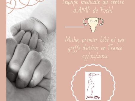 Misha, 1er bébé née en France par greffe d'utérus