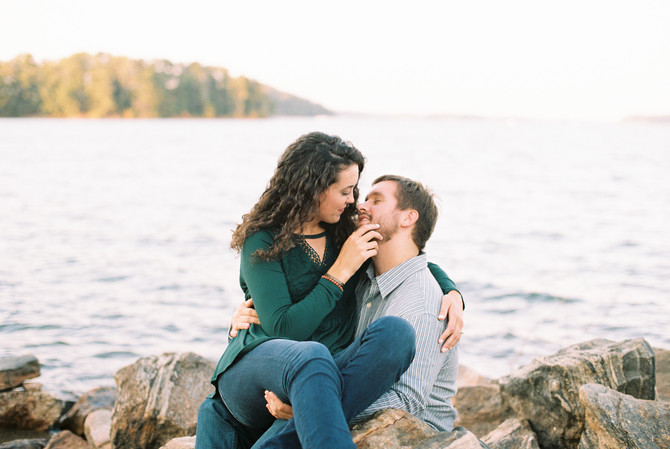 Elizabeth & Harris | Buford Dam | Lake Lanier Engagement Photographer