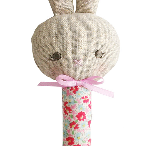 Rosie Bunny Stick Rattle Sweet Floral