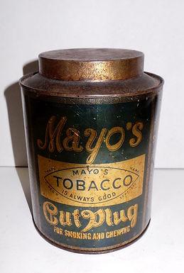 Mayos Cut Plug Tobacco Tin