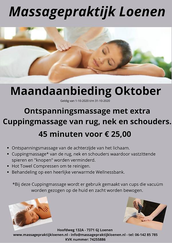 Maandactie Oktober Massagepraktijk Loene