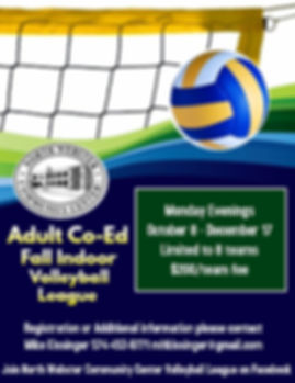 Adult Co Ed Volleyball Fall 2018 Flyer.j