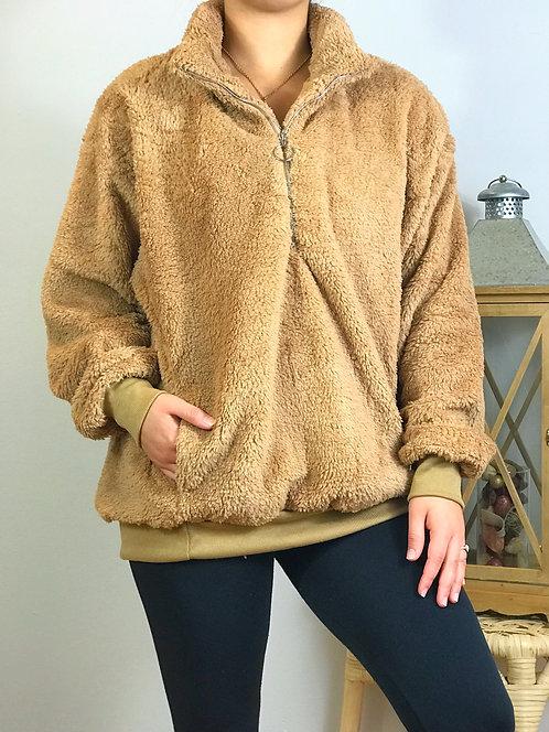 Cozy, Fleece Camel Sweater