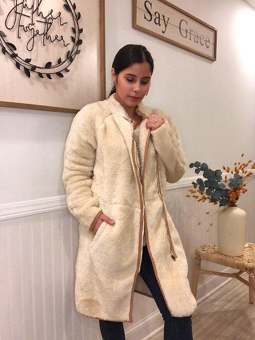 Tan, Fuzzy Jacket