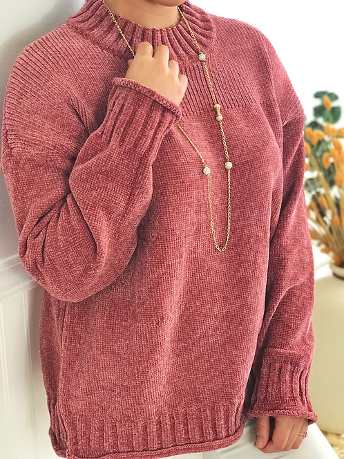 Dark, Dusty Rose Sweater