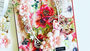 A Greeting Card 'Love' With Foamiran Flowers!