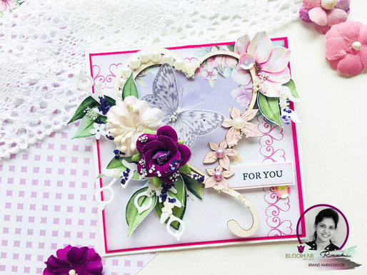Easel Birthday Card In Shabby Chic Style