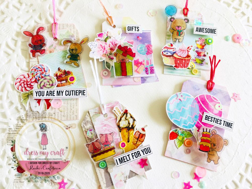 Cute Tags & Bookmarks With Dress My Craft- Shrink Prink!