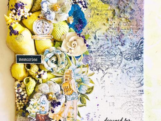 Mixed Media Canvas Art 'Memories'