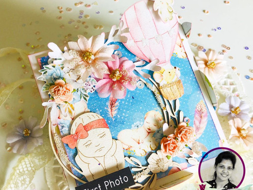 A Baby Themed Box With Photo Mats
