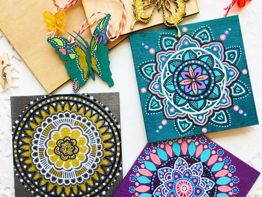 Mandala Coasters and Bookmarks!