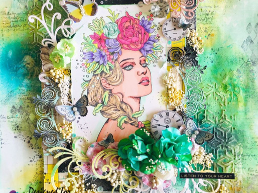 Mixed Media Vintage Layout With Video Tutorial