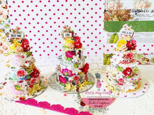 Miniature Paper Cakes For Your Platter Decoration
