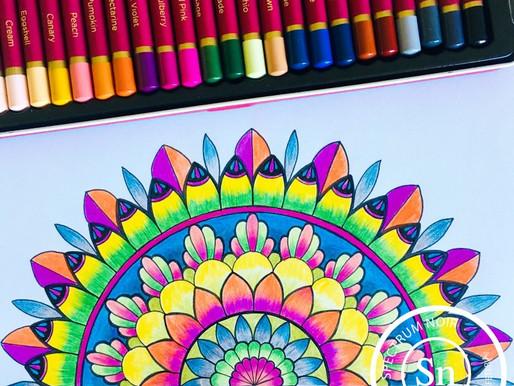 Mandala With Spectrum Noir ColourBlend Pencils