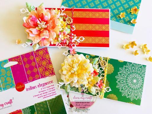 Video Tutorial- Money/Shagun Envelopes With Handmade Flowers