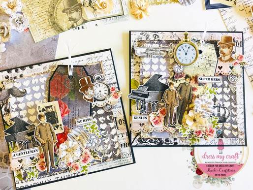 Masculine Cards In Mixed Media Style For Dress My Craft