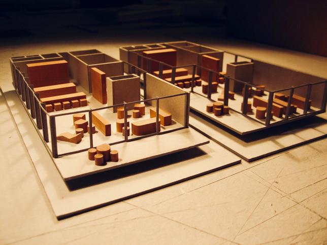 Modellbau// Entwurfsmodell für einen Ersatzbau Zürich/