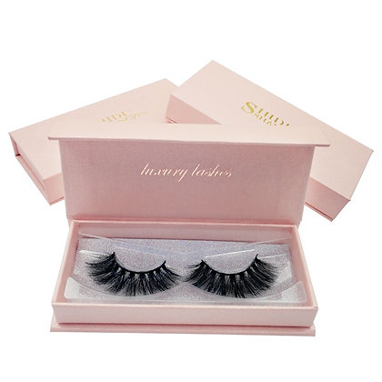Fluffy Mink Eyelashes 1 Pair False Eyelashes Natural 3d Mink