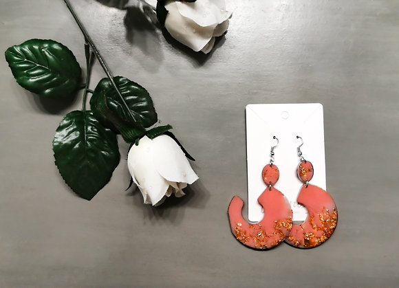 Chantsy Accessories - Pink and Rose Gold Earrings