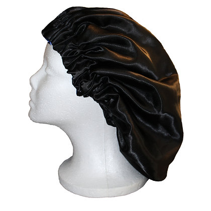 Adjustable and Reversible Two Tone Satin Hair Bonnet