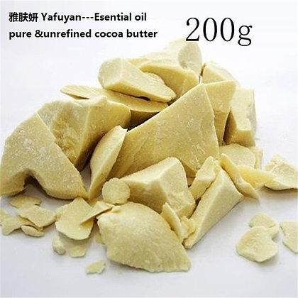 Natural ORGANIC 200g/ Bag Pure Cocoa Butter Raw Unrefined Food Grade